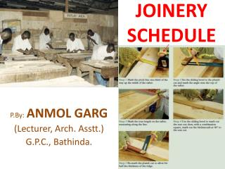 JOINERY SCHEDULE