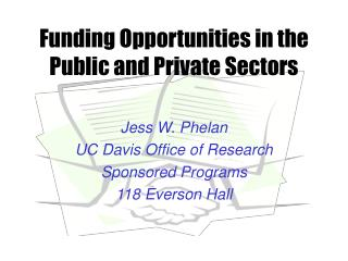 Funding Opportunities in the Public and Private Sectors
