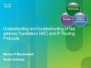 Understanding and troubleshooting of Nat address Translation( NAT) and IP Routing Protocols