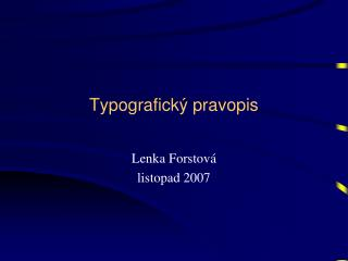 Typografický pravopis