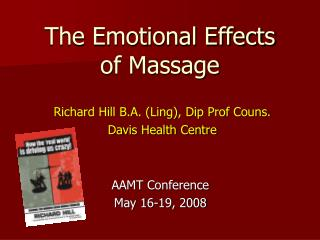 The Emotional Effects  of Massage