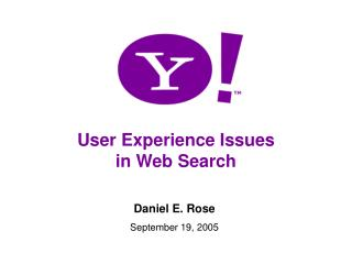 User Experience Issues in Web Search