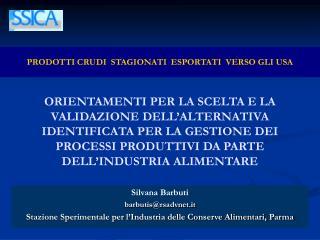 Silvana Barbuti barbutis@rsadvnet.it