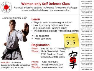 Women-only Self Defense Class