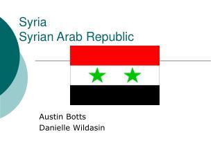 Syria Syrian Arab Republic