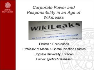 Corporate Power and Responsibility in an Age of WikiLeaks