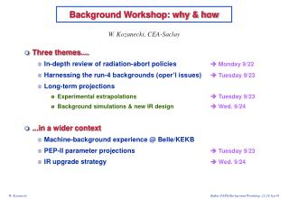 Background Workshop: why & how