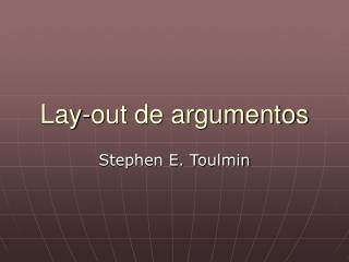 Lay-out de argumentos