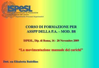 Dott. ssa Elisabetta Badellino