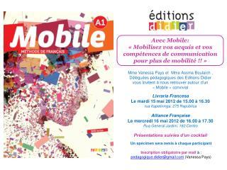 Livraria Francesa Le mardi 15 mai 2012 de 15.00 à 16.30  rua Itapetininga, 275 República