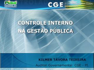 CONTROLE INTERNO NA GESTÃO PÚBLICA