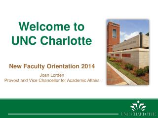 Welcome to  UNC Charlotte