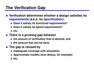 The Verification Gap