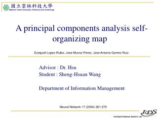 A principal components analysis self-organizing map