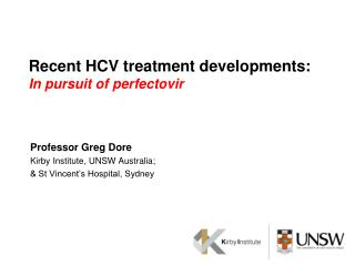 Recent HCV treatment developments: In pursuit of  perfectovir