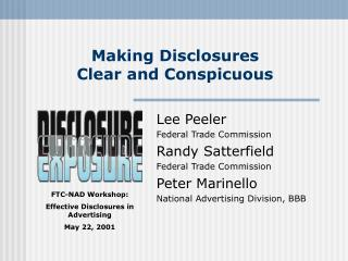 Making Disclosures  Clear and Conspicuous