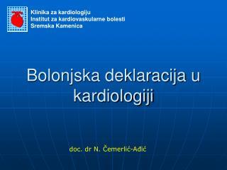 Bolonjska deklaracija u kardiologiji