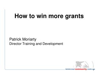Patrick Moriarty Director Training and Development