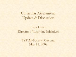 Curricular Assessment Committee