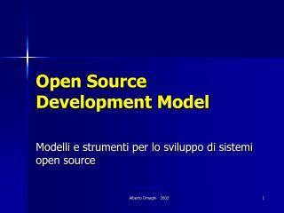 Open Source Development Model