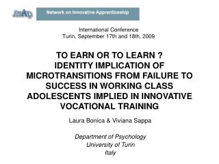 TO EARN OR TO LEARN  IDENTITY IMPLICATION OF MICROTRANSITIONS FROM FAILURE TO SUCCESS IN WORKING CLASS ADOLESCENTS IMPLI