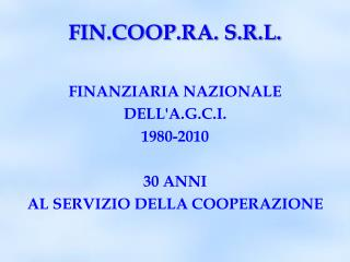 FIN.COOP.RA. S.R.L.