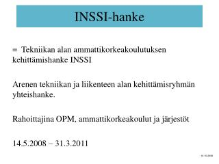 INSSI-hanke