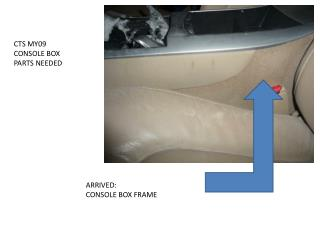 CTS MY09 CONSOLE BOX  PARTS NEEDED