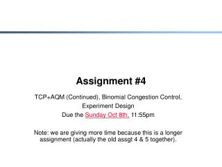 Assignment #4