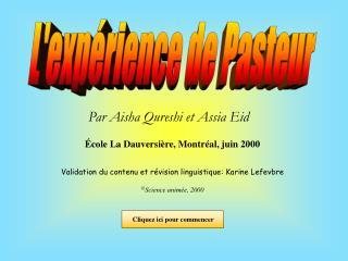 L'expérience de Pasteur