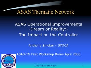 ASAS Thematic Network