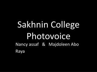 Sakhnin College Photovoice