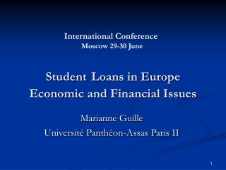 Student Loans in Europe Economic and  Financial Issues