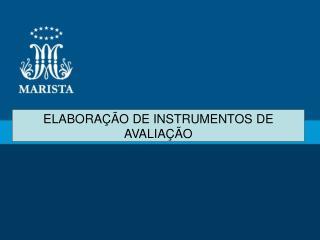 JORNADA PASTORAL PEDAGÓGICA/2013 ELABORAÇÃO DE INSTRUMENTOS DE AVALIAÇÃO