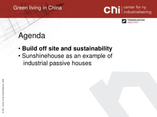 Green living in China