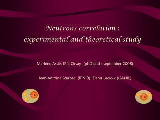 Neutrons correlation :  experimental and theoretical study