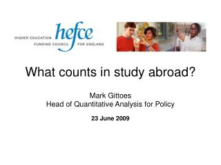 What counts in study abroad?