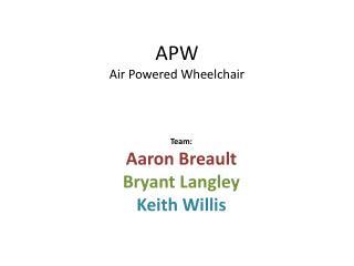 APW Air Powered Wheelchair