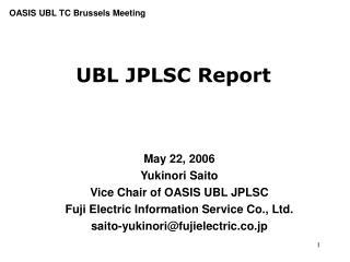UBL JPLSC Report