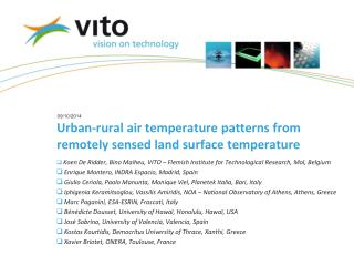 Urban-rural air temperature patterns from remotely sensed land surface temperature