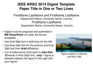 IEEE ARSO 2014 Digest Template Paper Title in One or Two Lines