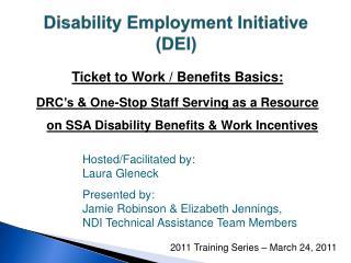 Disability Employment Initiative (DEI)