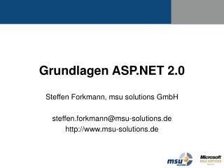 Grundlagen ASP.NET 2.0