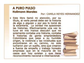 A PURO PULSO Hollmann Morales
