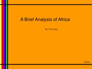 A Brief Analysis of Africa