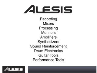 Recording  Mixers Processing Monitors Amplifiers Synthesizers Sound Reinforcement Drum Electronics