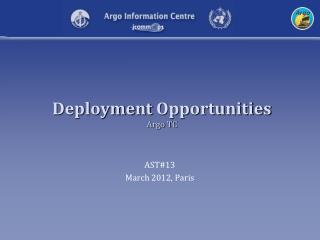 Deployment Opportunities Argo TC