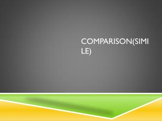 Comparison(Simile)