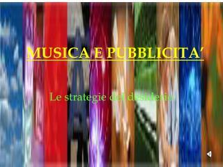 MUSICA E PUBBLICITA'