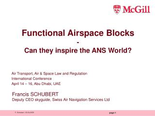 Functional Airspace Blocks - Can they inspire the ANS World?